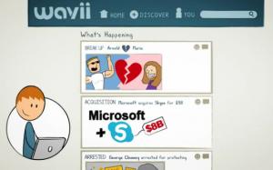 Wavii is like a Facebook timeline of news (wavii.com)