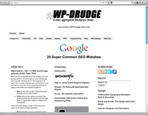 Wordpress curation and aggregation theme wp drudge for News aggregator template